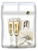 New Year Champagne Duvet Cover by Amanda Elwell