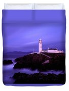 Newcastle, Co Down, Ireland Lighthouse Duvet Cover by The Irish Image Collection