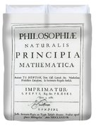 Newtons Principia, Title Page Duvet Cover by Science Source