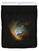 Ngc 281, The Pacman Nebula Duvet Cover by Rolf Geissinger