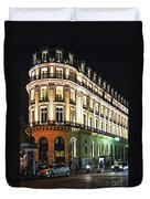 Night Paris Duvet Cover by Elena Elisseeva