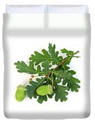 Oak Branch With Acorns Duvet Cover by Elena Elisseeva
