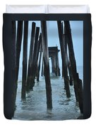Ocean City 59th Street Pier Duvet Cover by Bill Cannon