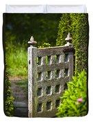 Old Garden Entrance Duvet Cover by Heiko Koehrer-Wagner