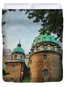 Old Montreal Church Duvet Cover by Joan  Minchak