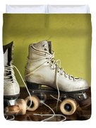 Old Roller-skates Duvet Cover by Carlos Caetano