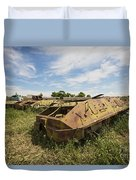 Old Russian Btr-60 Armored Personnel Duvet Cover by Terry Moore