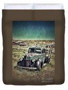 Old Rusty Truck Duvet Cover by Jill Battaglia
