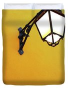 Old Street Lamp Duvet Cover by Carlos Caetano