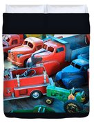 Old Tin Toys Duvet Cover by Steve McKinzie