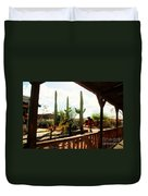 Old Tuscon Movie Studio Theme Park Duvet Cover by Susanne Van Hulst