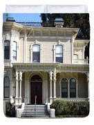 Old Victorian Camron-Stanford House . Oakland California . 7D13440 Duvet Cover by Wingsdomain Art and Photography