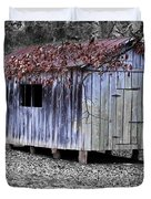 Old Weathered Shed Duvet Cover by Betty LaRue