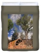 Old West Water Mill 1 Duvet Cover by Darcy Michaelchuk