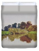 On The Arun Stoke Sussex  Duvet Cover by George Vicat Cole