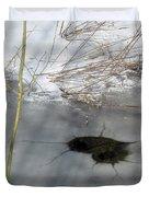 On The River. Heart In Ice 02 Duvet Cover by Ausra Paulauskaite