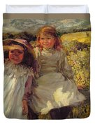 On The Stile Duvet Cover by Frederick Stead