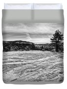 On The Way To Subway Duvet Cover by Chad Dutson