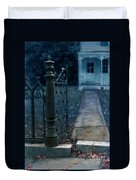 Open Iron Gate To Old House Duvet Cover by Jill Battaglia