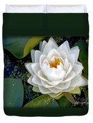 Optical Illusion In A Waterlily Duvet Cover by Kaye Menner