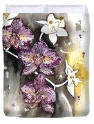 Orchid 13 Elena Yakubovich Duvet Cover by Elena Yakubovich