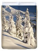 Oregon, United States Of America Snow Duvet Cover by Craig Tuttle