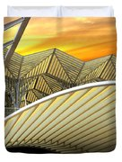 Oriente Station Duvet Cover by Carlos Caetano