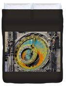 Orloj - Astronomical Clock - Prague Duvet Cover by Christine Till