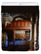 Orthodox Church Oil Candle Duvet Cover by Stelios Kleanthous