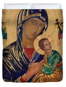 Our Mother Of Perpetual Help Duvet Cover by Camelia Apostol
