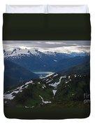 Over Alaska Duvet Cover by Mike Reid