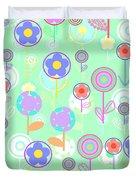 Overlayer Flowers Duvet Cover by Louisa Knight