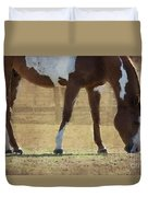 Paint Horse Duvet Cover by Betty LaRue