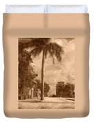 Palm Tree Duvet Cover by Trish Tritz