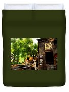 Pan For Gold In Old Tuscon Arizona Duvet Cover by Susanne Van Hulst