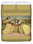 Panel For Music Room Duvet Cover by John White Alexander