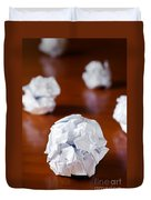 Paper Balls Duvet Cover by Carlos Caetano