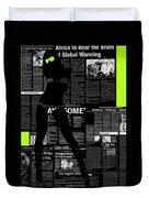 Paper Dance 2 Duvet Cover by Naxart Studio