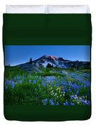 Paradise Garden Dawning Duvet Cover by Mike  Dawson