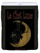 Paris Cafe Poster Duvet Cover by Andrew Fare