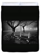 Park Benches Duvet Cover by Gary Heller