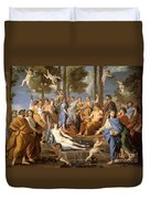 Parnassus, Apollo And The Muses, 1635 Duvet Cover by Photo Researchers