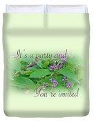 Party Invitation - General - American Beautyberry Shrub Duvet Cover by Mother Nature