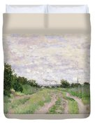 Path Through The Vines At Argenteuil Duvet Cover by Claude Monet