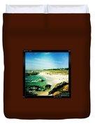 Pebble Beach Duvet Cover by Nina Prommer