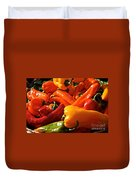 Pepper Palooza Duvet Cover by Susan Herber