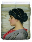 Perilla Duvet Cover by John William Godward