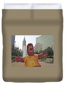 Phanatic Love Statue In The City Duvet Cover by Alice Gipson