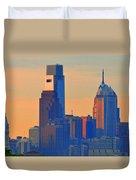 Philadelphia Sunrise Duvet Cover by Bill Cannon