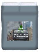Philly Loves A Winner Duvet Cover by Alice Gipson
